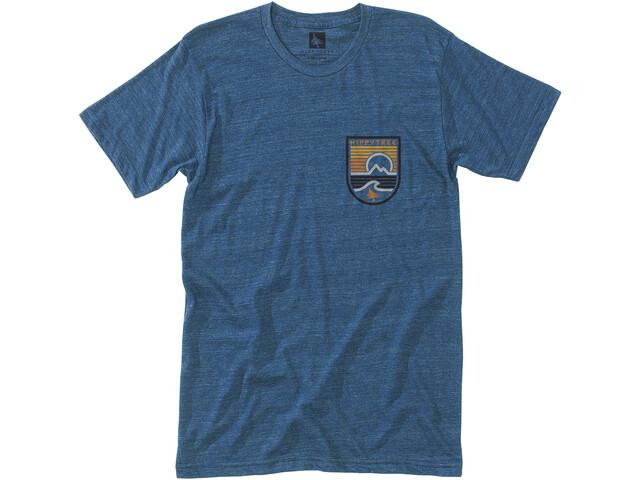 Hippy Tree Seastripe Camiseta Hombre, heather navy